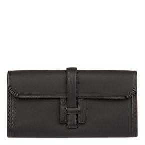 Hermès Black Swift Leather Jige Elan 29