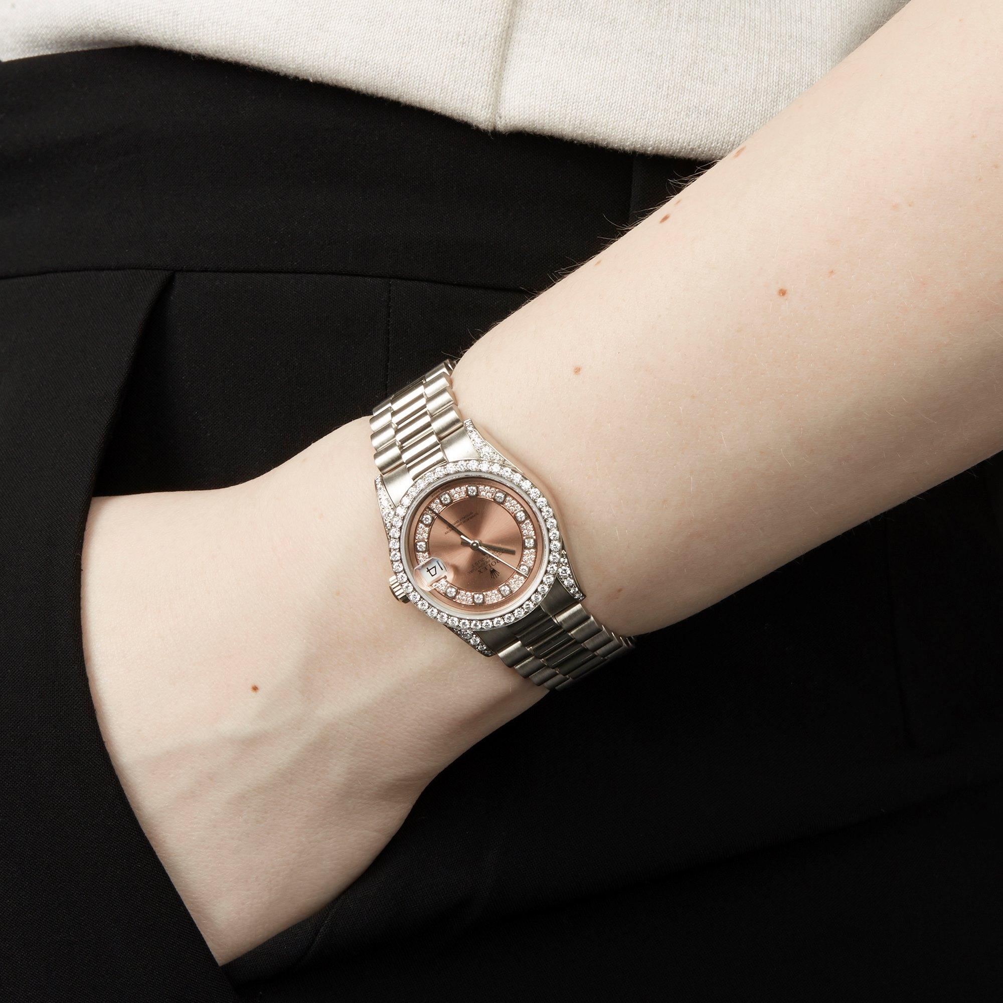 Rolex DateJust 31 Diamond 18k White Gold 68159