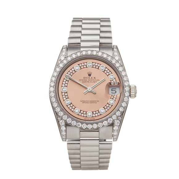 Rolex Datejust 18K White Gold - 68159