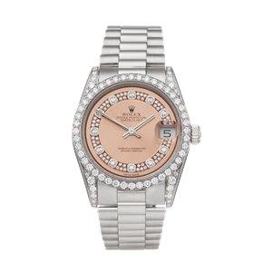 Rolex DateJust 31 Diamond 18k White Gold - 68159