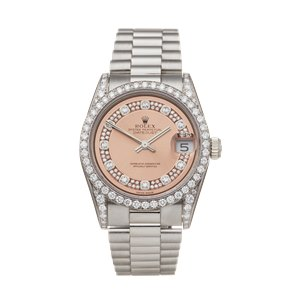 Rolex Datejust 31 Diamond 18k White Gold - 68159