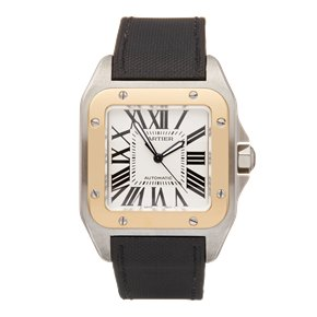 Cartier Santos de Cartier 18k Stainless Steel & Yellow Gold - W20072X7 or 2656