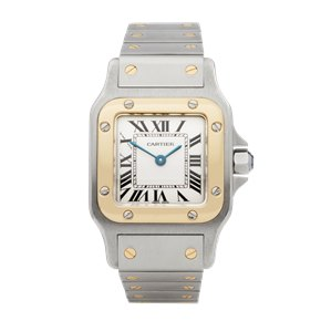 Cartier Santos de Cartier 18k Stainless Steel & Yellow Gold - 1566