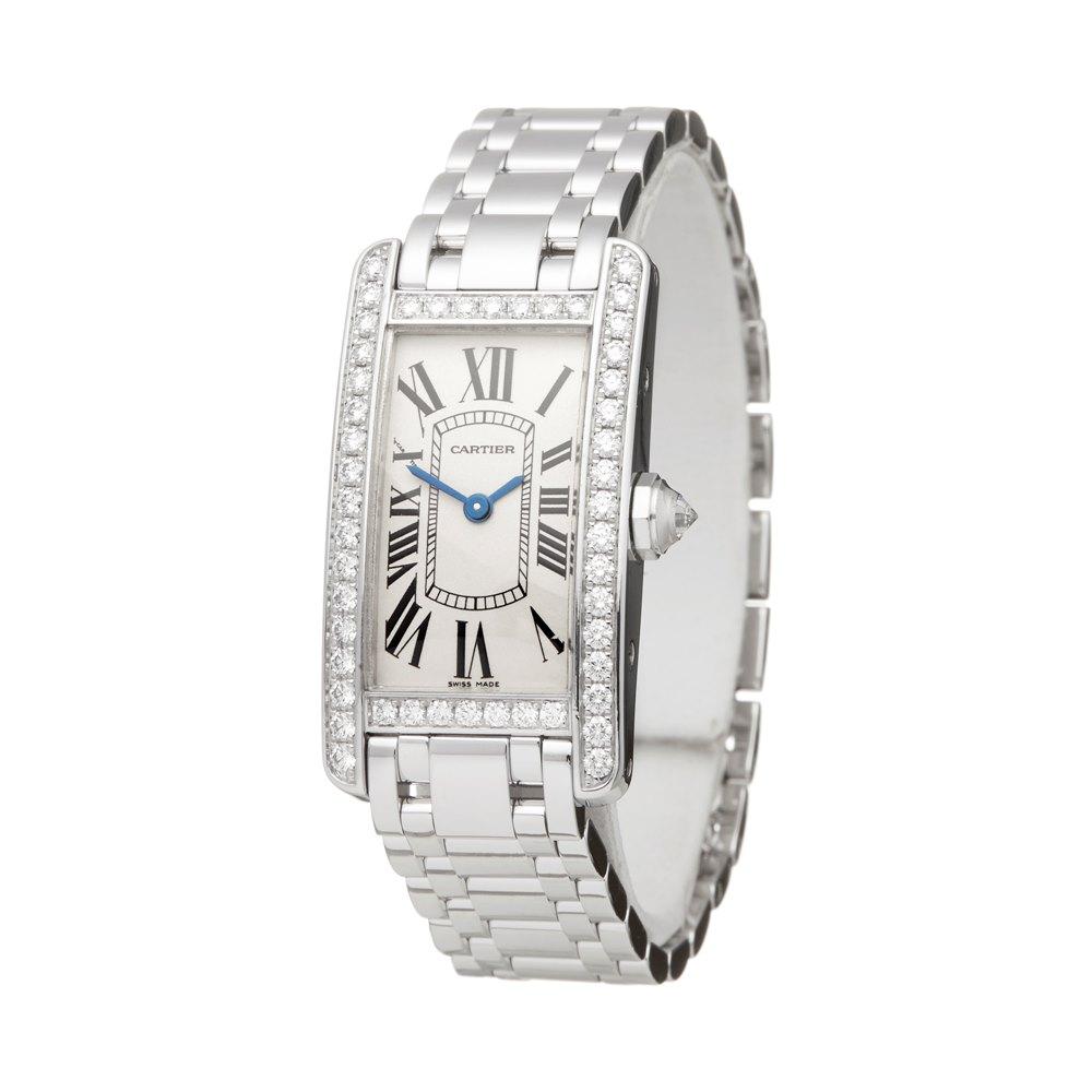 Cartier Tank Americaine Diamond 18k White Gold 2489