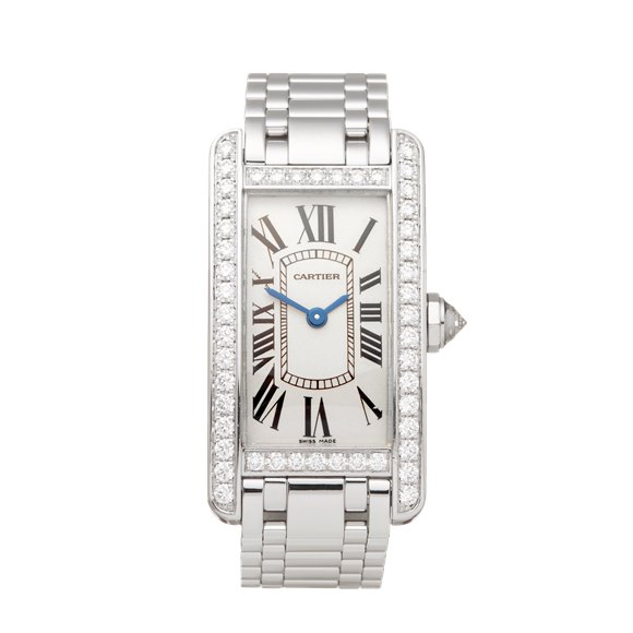 Cartier Tank Americaine Diamond 18k White Gold - 2489