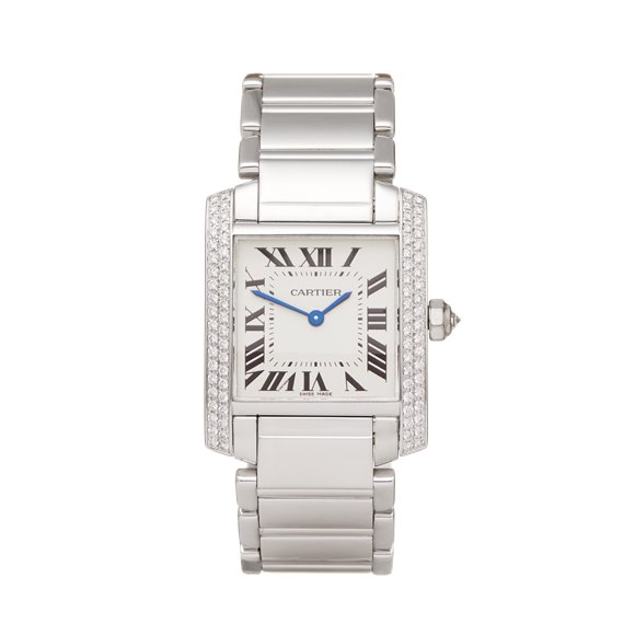 Cartier Tank Francaise Diamond 18k White Gold - 2404