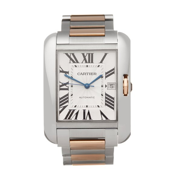 Cartier Tank Anglaise XL Stainless Steel & Rose Gold - W5310006 or 3507