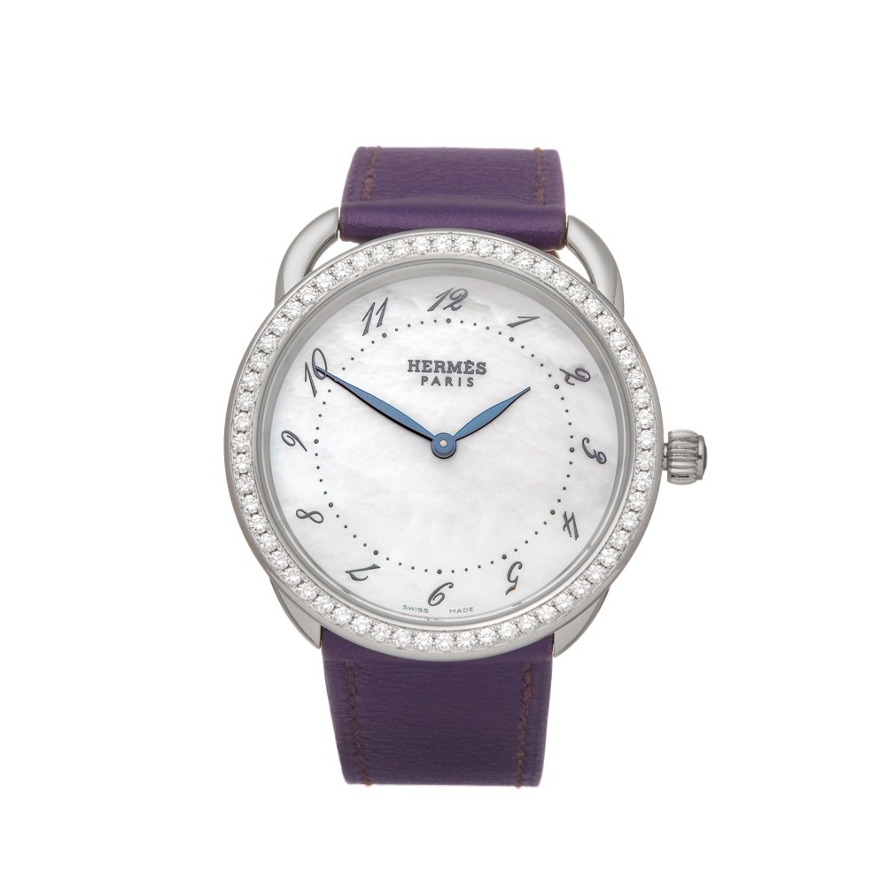 Hermès Arceau Mother Of Pearl Diamond Stainless Steel AR5730