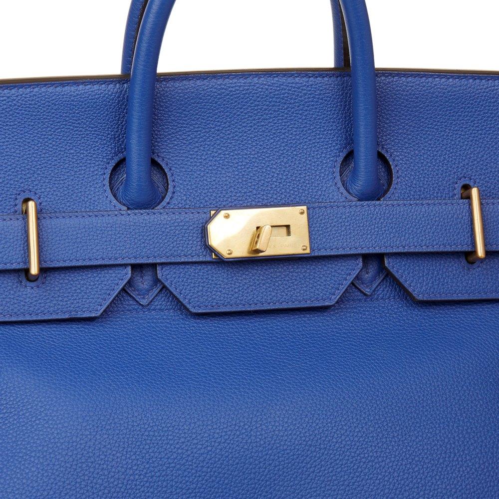 1d05b2866b9 Hermès Blue Electric Togo Leather Birkin HAC 50cm