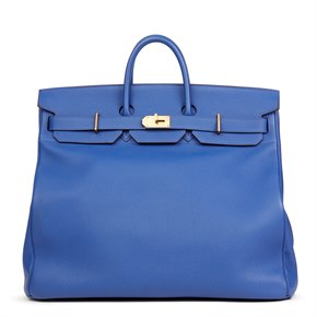 Hermès Blue Electric Togo Leather Birkin HAC 50cm