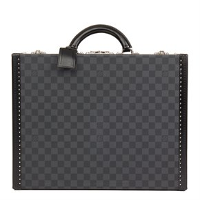 Louis Vuitton Graphite Damier Coated Canvas Cotteville 45