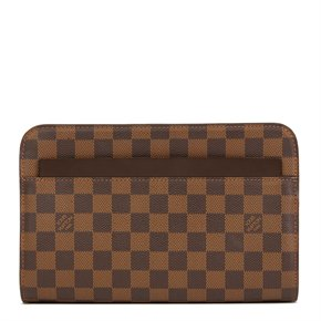 Louis Vuitton Ebene Damier Coated Canvas Pochette Saint Louis Clutch