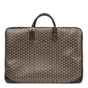 Goyard Black Chevron Coated Canvas Majordome 60
