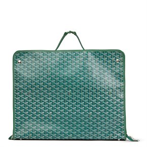 Goyard Green Chevron Coated Canvas Fold-Away Caravelle 60