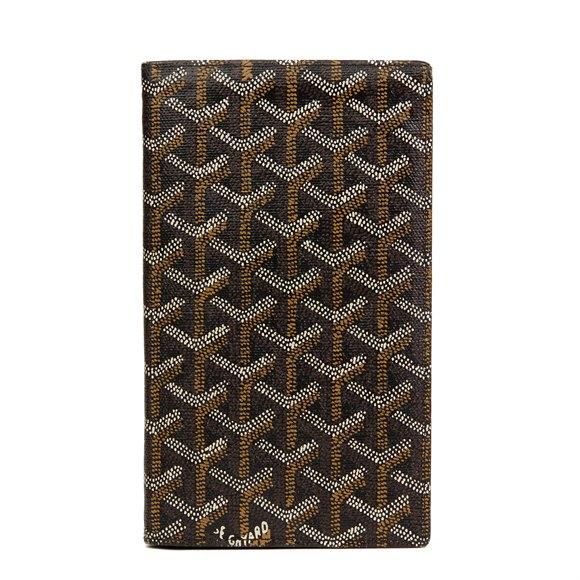 Goyard Black Chevron Coated Canvas Bi-Fold Wallet