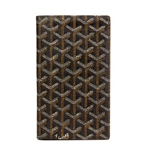 Goyard Black Chevron Coated Canvas Bi-Fold Wallet