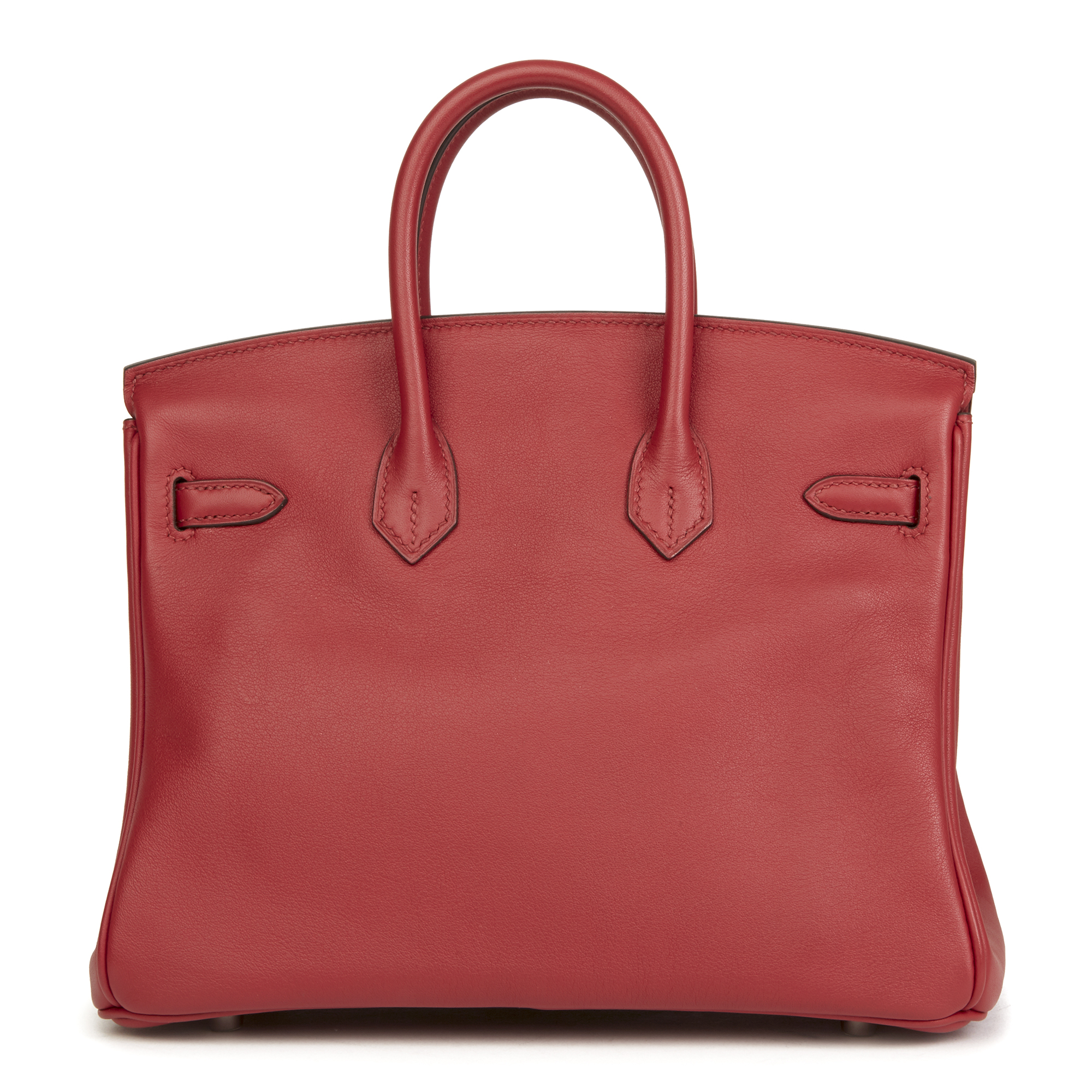 de0ae5cde30a Details about HERMÈS ROUGE GRENAT SWIFT LEATHER BIRKIN 25CM HB2566