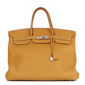 Hermès Natural Fjord Leather Birkin 40cm