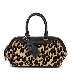 Louis Vuitton Leopard Print Jacquard Velvet Stephen Sprouse Speedy 25