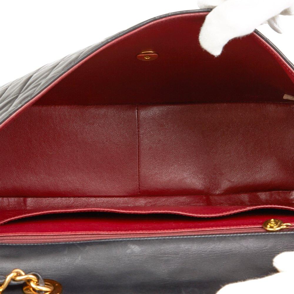 Chanel Black Quilted Lambskin Vintage Maxi Jumbo XL Flap Bag
