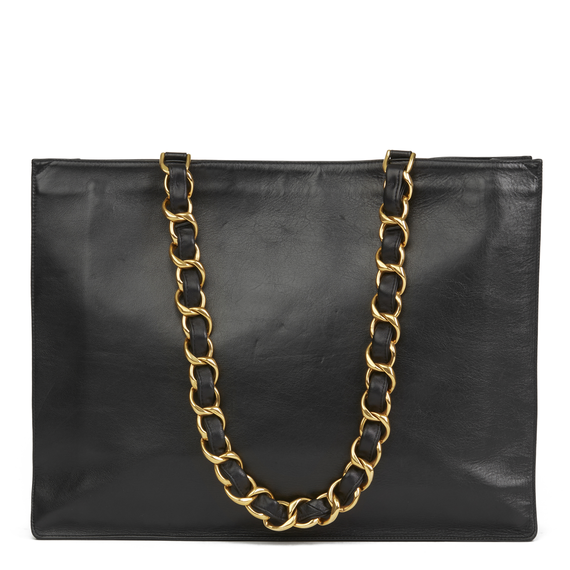 d7fc67039b75b1 Details about CHANEL BLACK LAMBSKIN VINTAGE JUMBO XL TIMELESS SHOPPING TOTE  HB2590