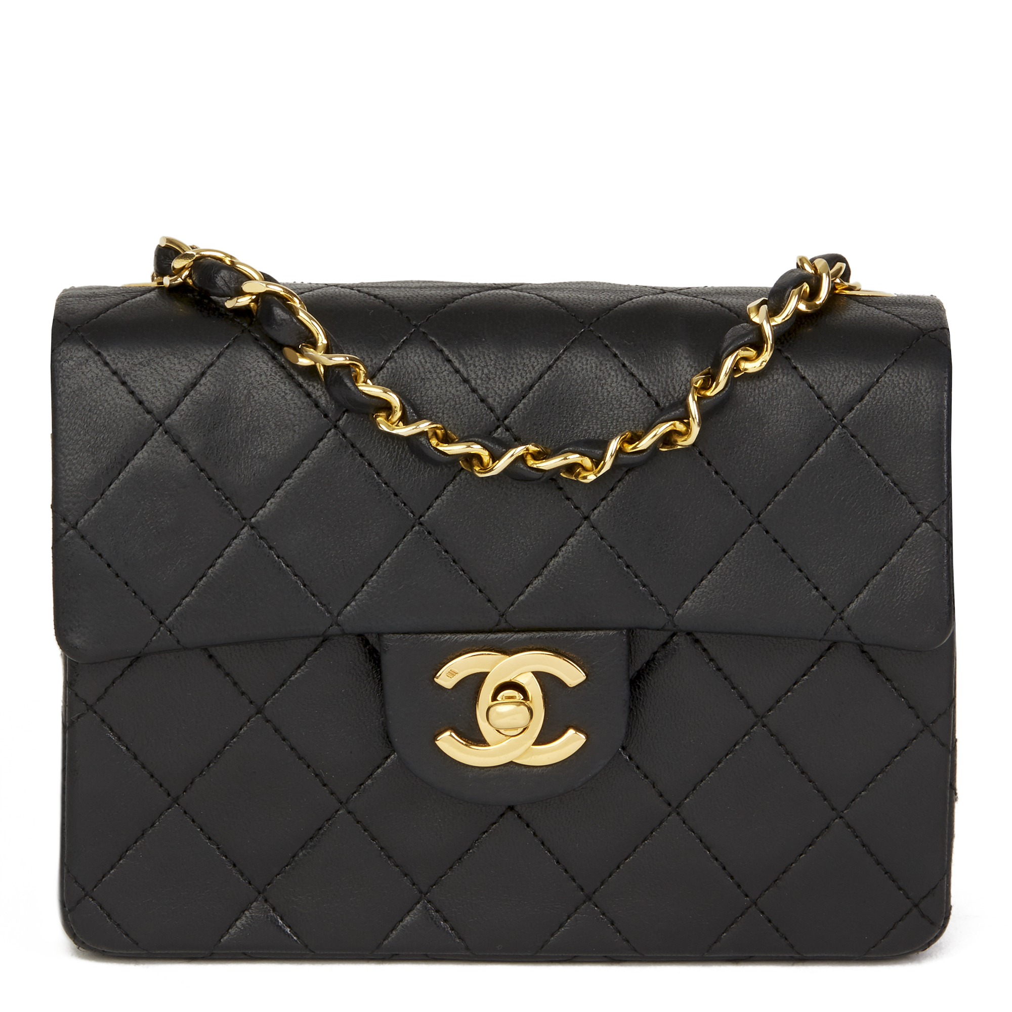 24df799ffe5dc9 Chanel Black Quilted Lambskin Leather Mini Flap Bag - Best Quilt ...