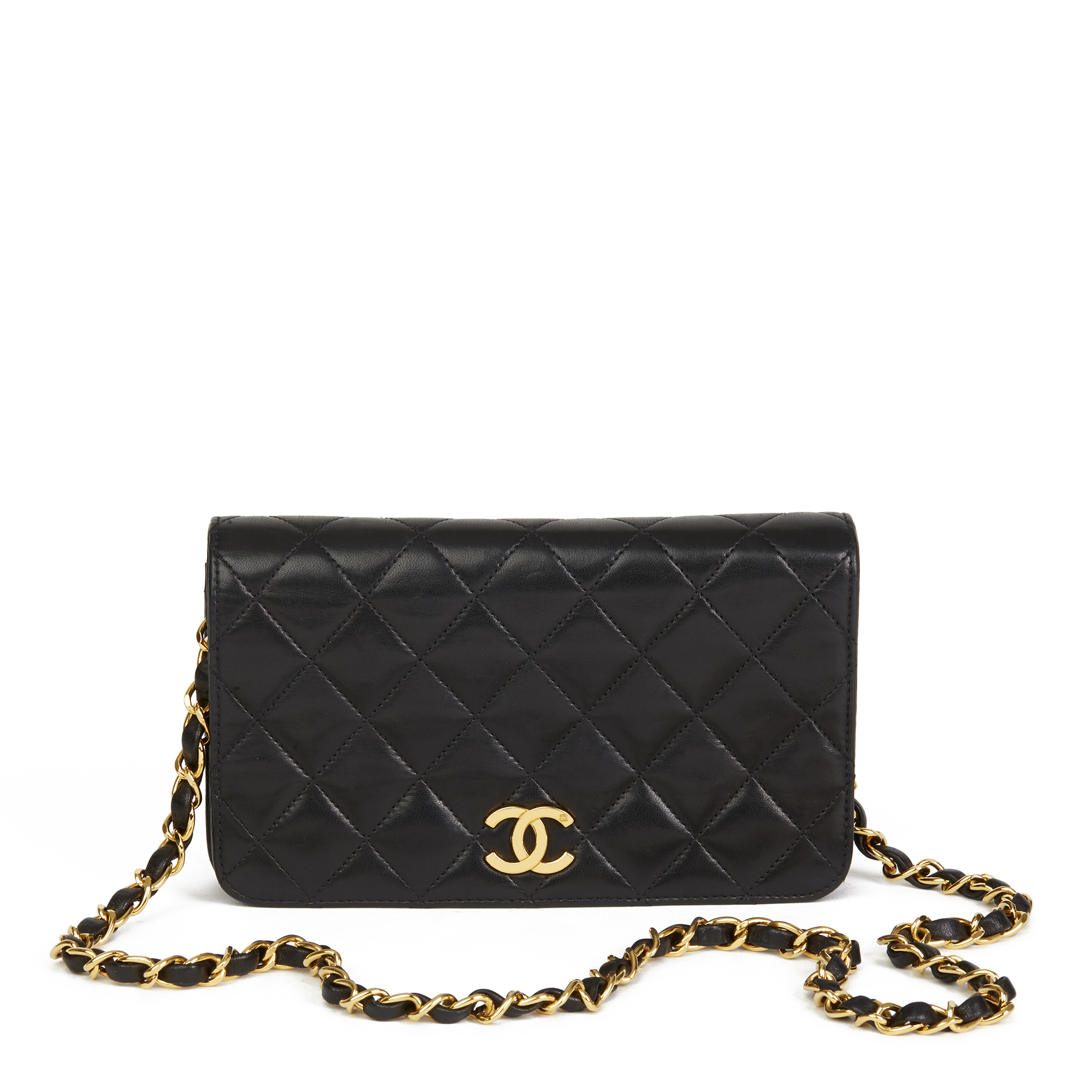 8860b1c68d CHANEL BLACK QUILTED LAMBSKIN VINTAGE MINI FLAP BAG HB2611 | eBay