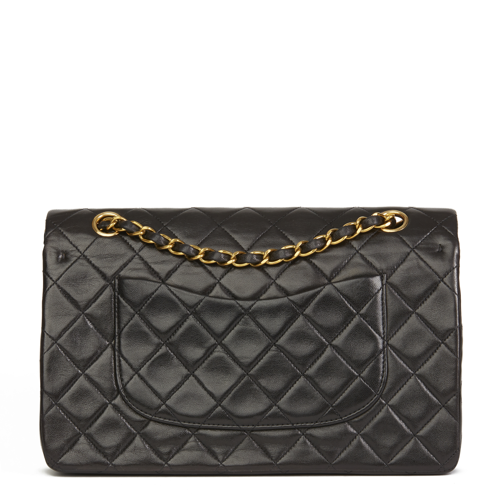 448c7acd388a Chanel Black Quilted Lambskin Vine Medium Clic Double Flap Bag
