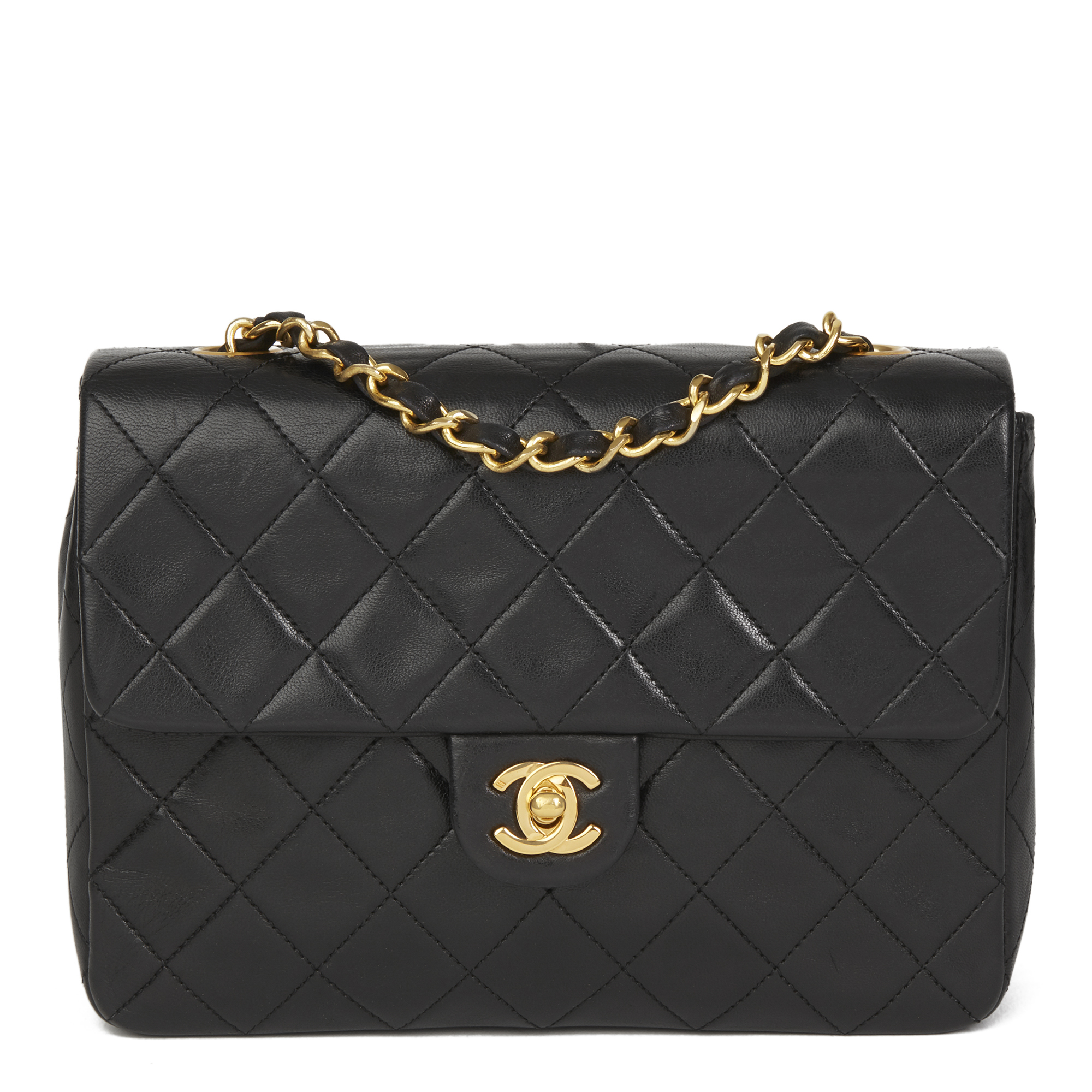 b662f3bc4859 CHANEL BLACK QUILTED LAMBSKIN VINTAGE MINI FLAP BAG HB2633