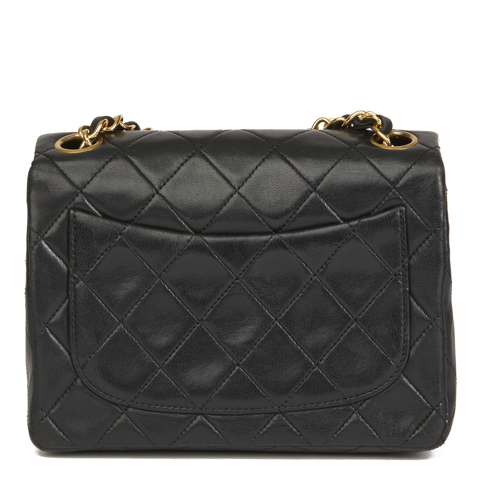 ddef07899aee70 Details about CHANEL BLACK QUILTED LAMBSKIN VINTAGE MINI FLAP BAG HB2634