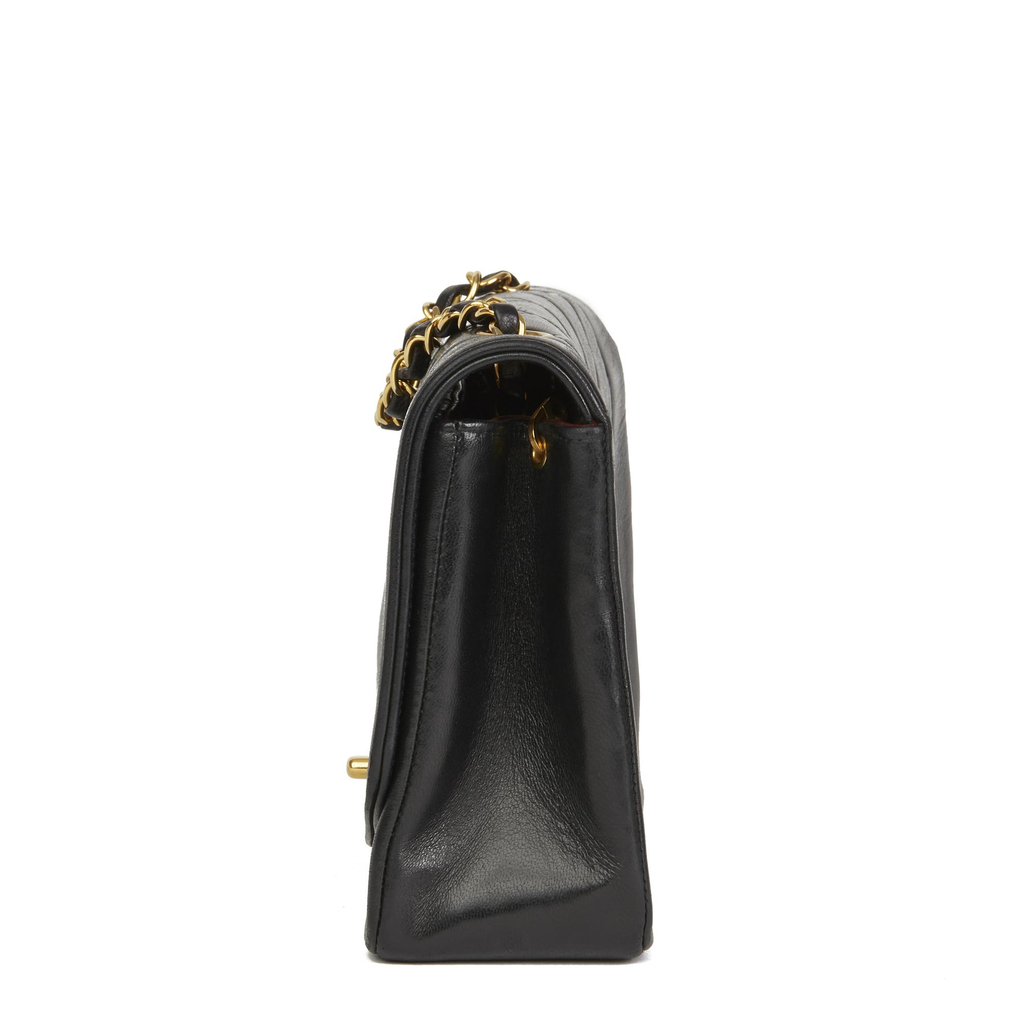 0814b8d9180277 Chanel Black Quilted Lambskin Vintage Medium Diana Classic Single Flap Bag