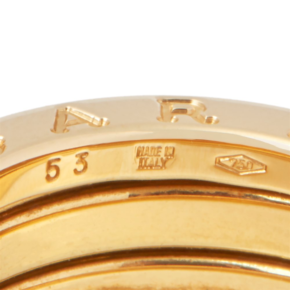 Bulgari 18k Yellow Gold 3 Band B.Zero 1 Ring