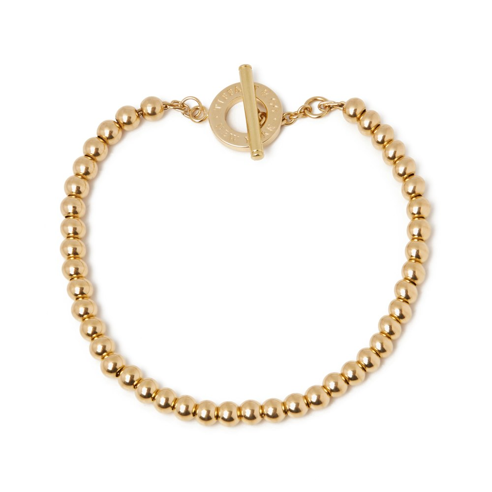 Tiffany & Co. 18k Yellow Gold Tiffany Beads Toggle Bracelet