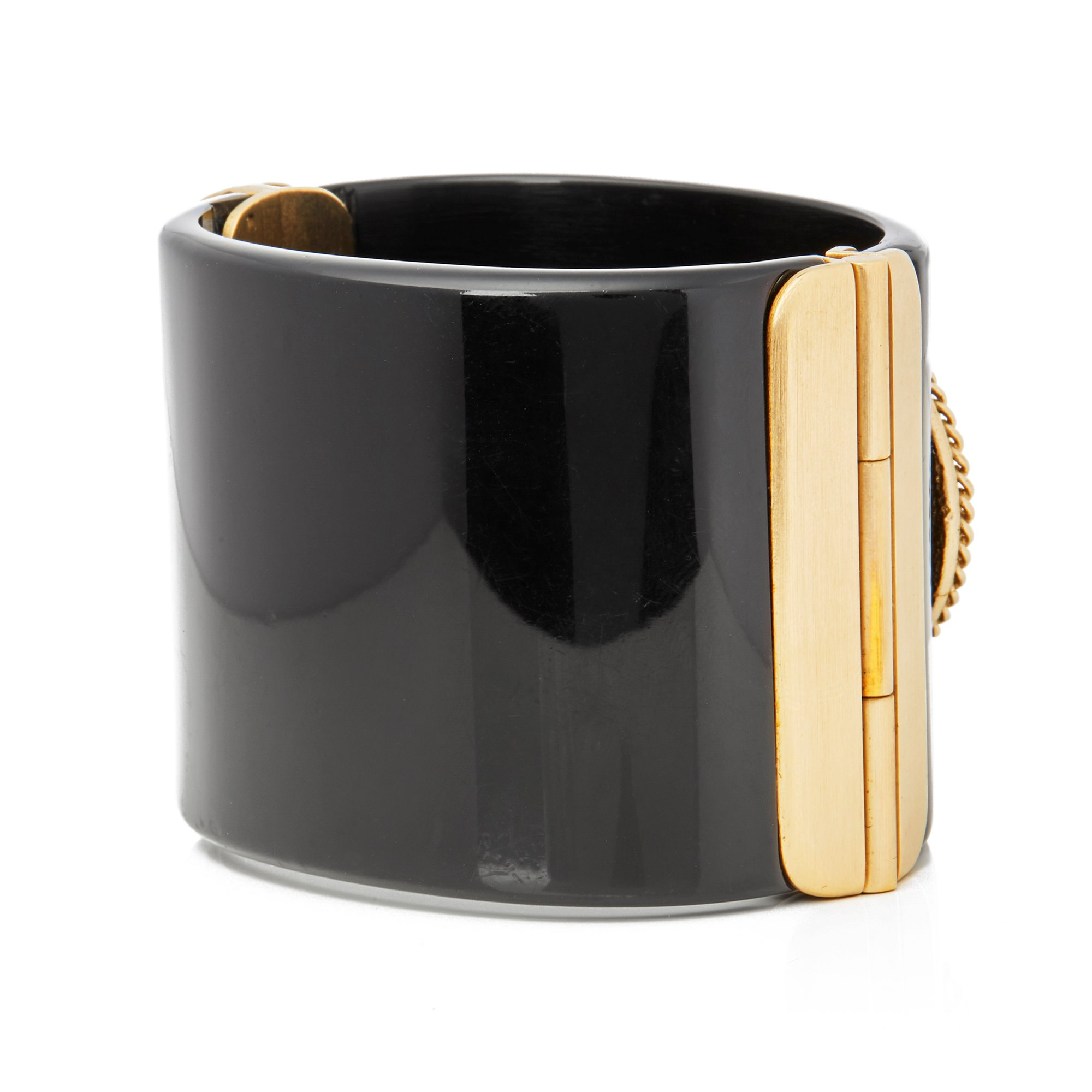 Chanel Gold Rue Cambon CC Cuff Bangle