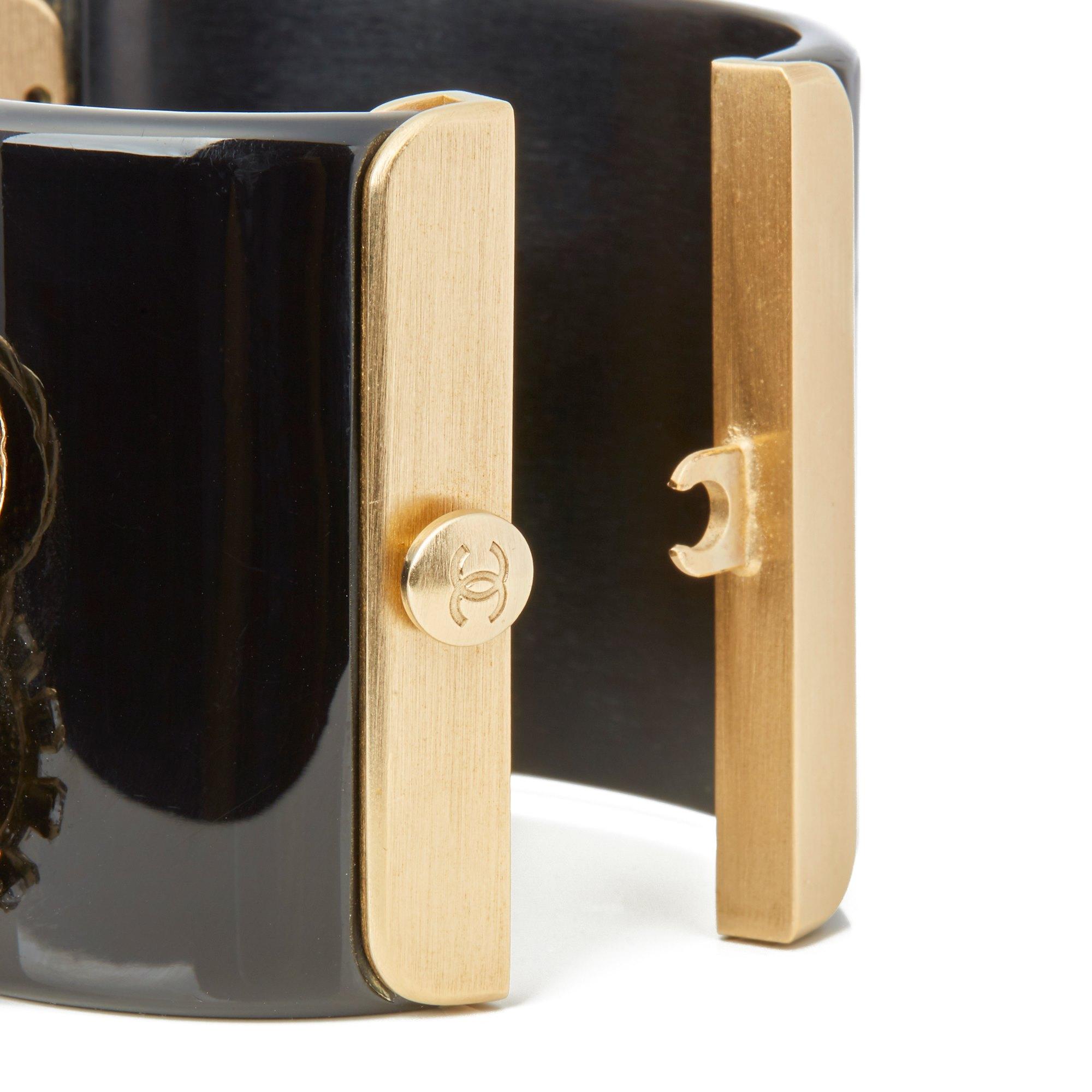 Chanel Gold Rue Cambon CC Cuff Bangle