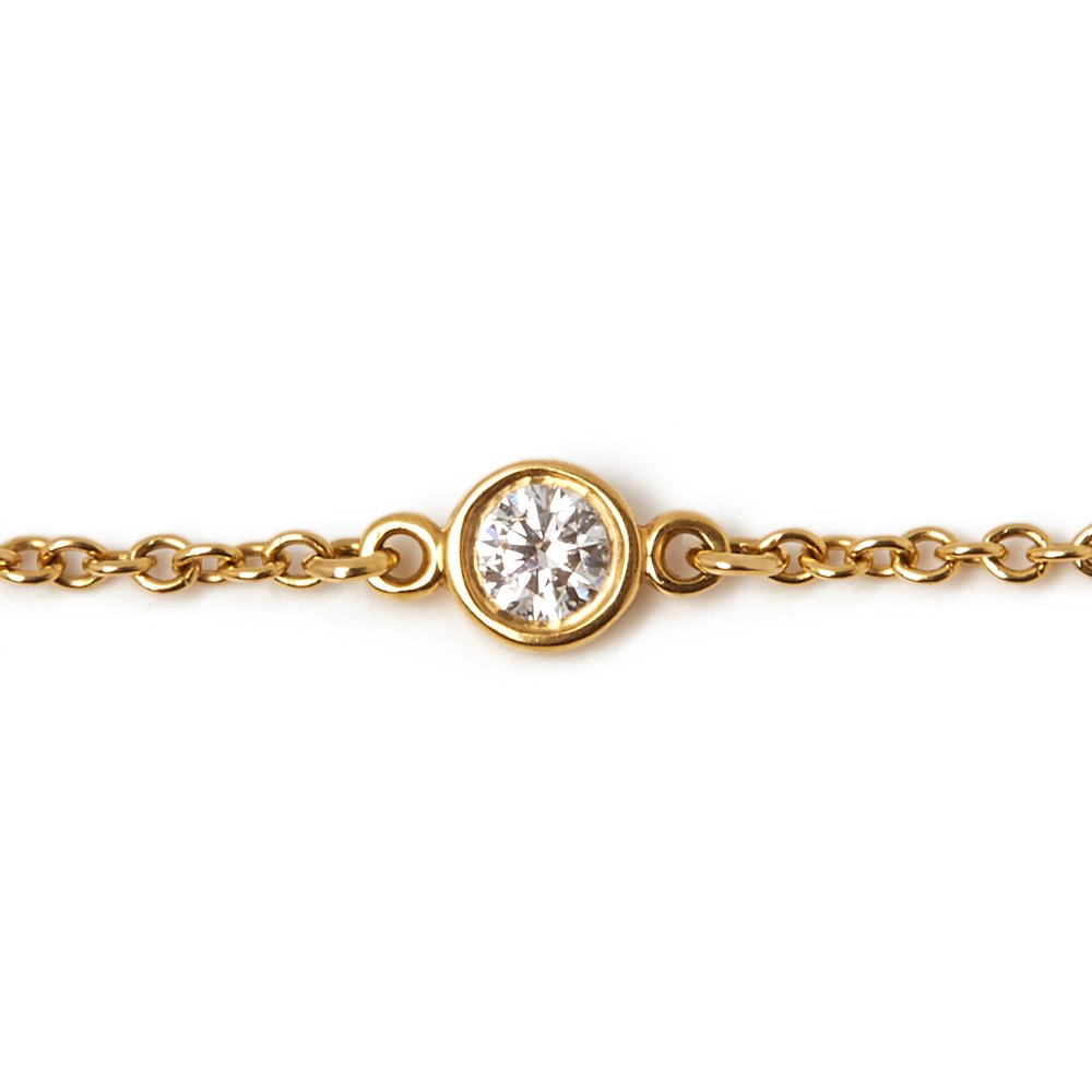 Tiffany & Co. 18k Yellow Gold Elsa Peretti Diamonds By The Yard Bracelet