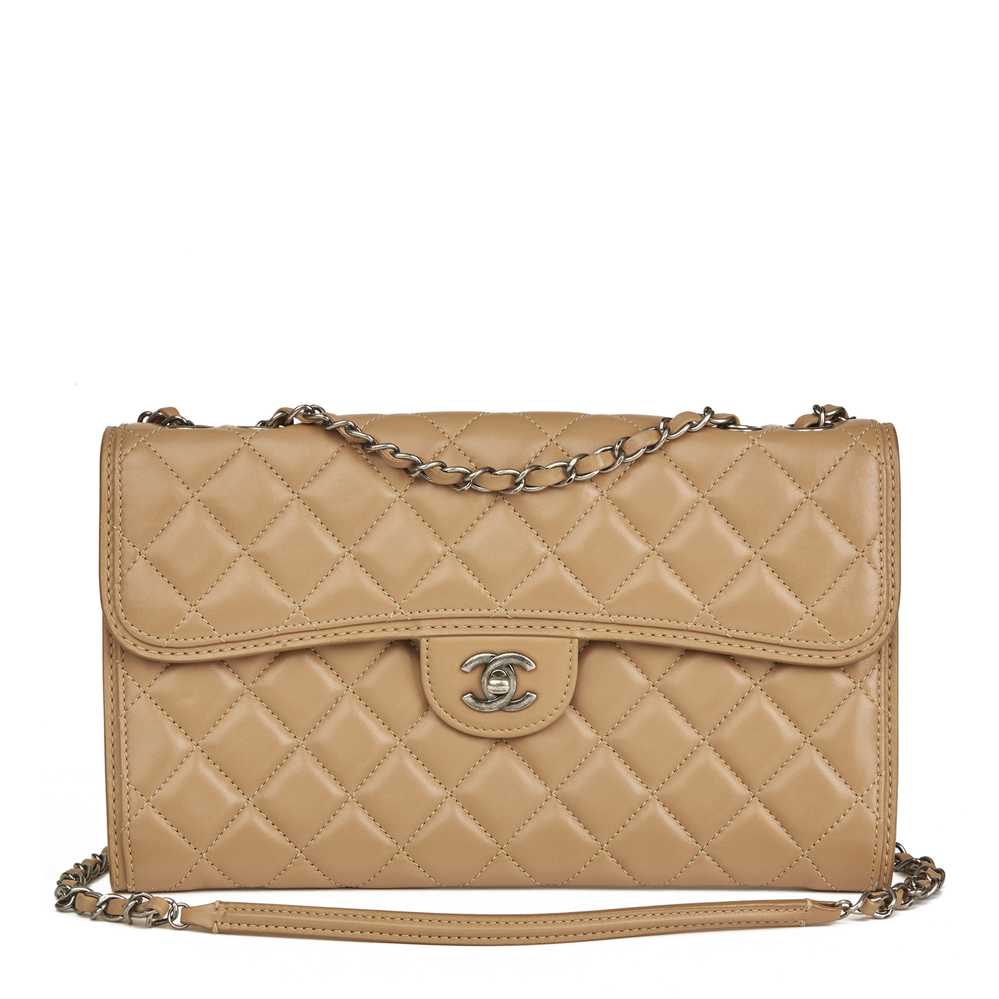 a8723aa8929a Image is loading CHANEL-MOCHA-QUILTED-LAMBSKIN-CLASSIC-SINGLE-FLAP-BAG-