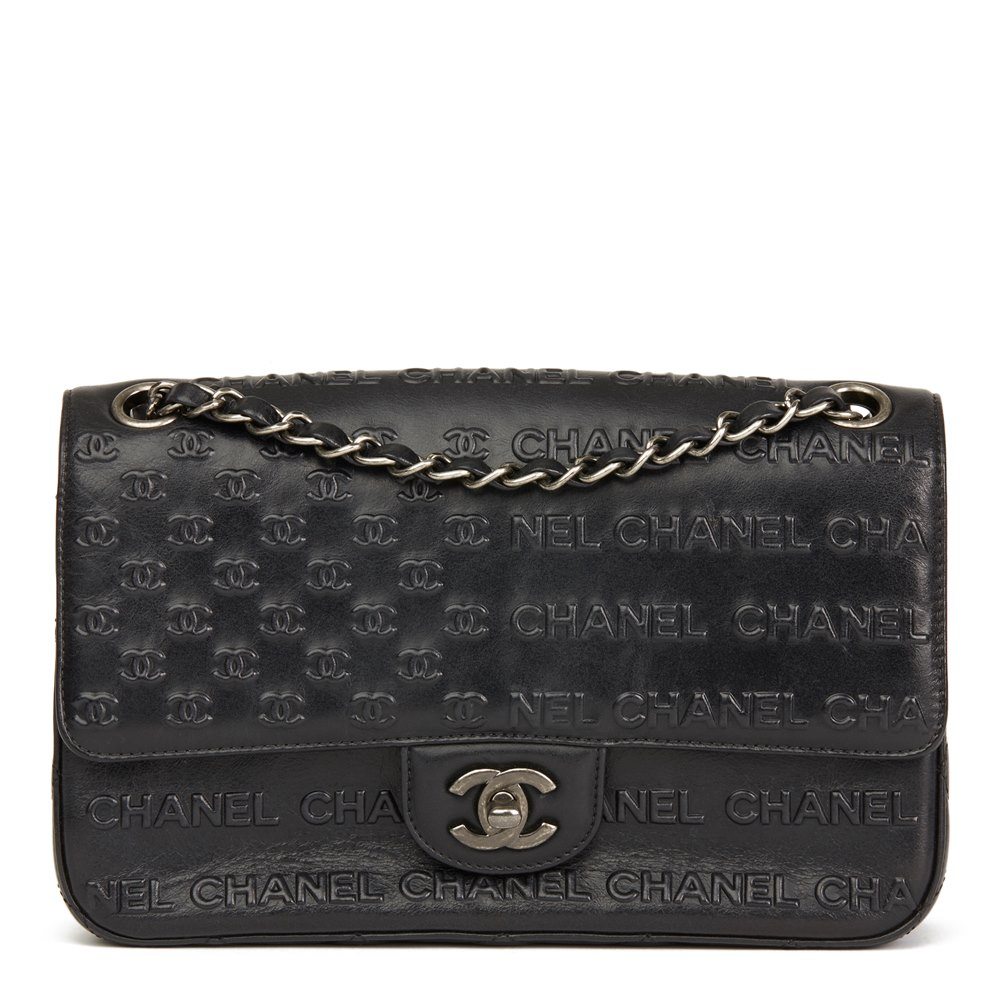 a505e45a056f Chanel Black Embossed & Quilted Calfskin Leather Paris-Dallas Classic  Single Flap Bag
