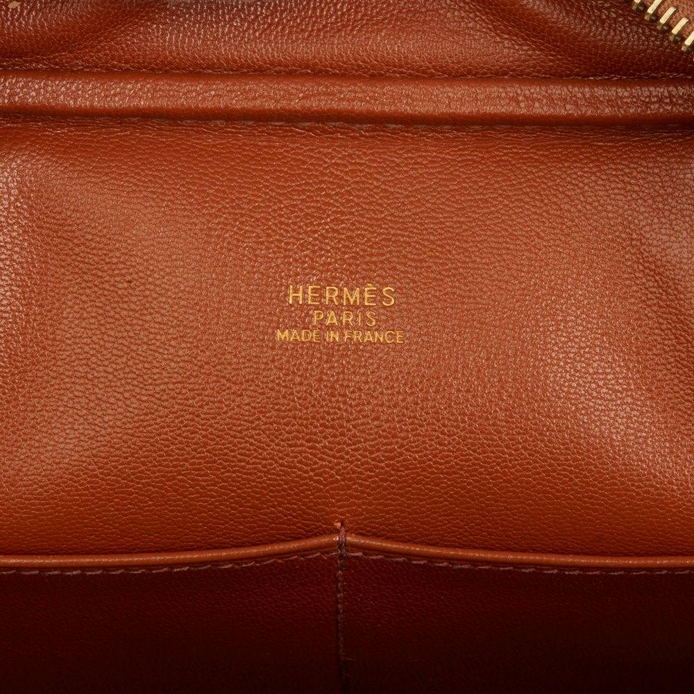 Hermès Gold Ostrich Leather Plume 28