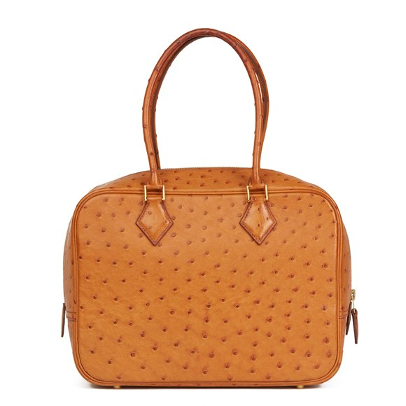Hermès Gold Ostrich Leather Plume 28