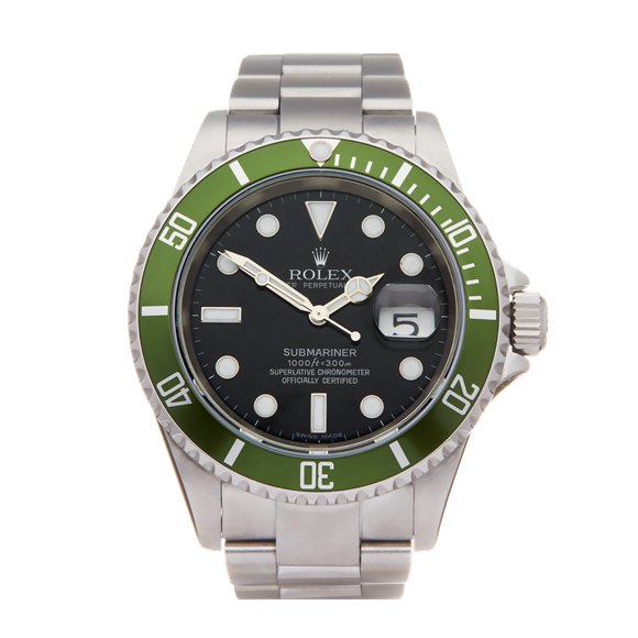 Rolex Submariner Date Kermit Stainless Steel - 16610LV