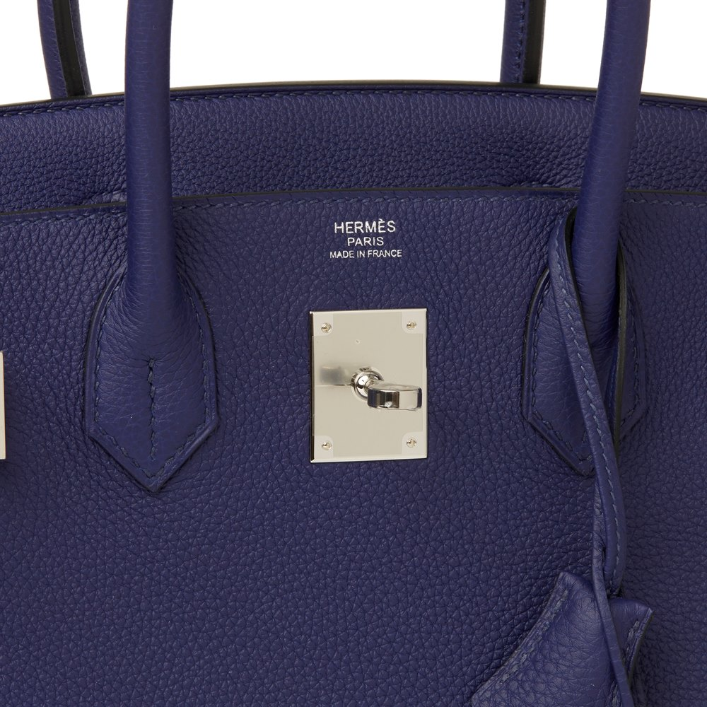 698a23b19f Hermès Blue Encre Togo Leather Birkin 30cm