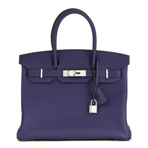 Hermès Blue Encre Togo Leather Birkin 30cm