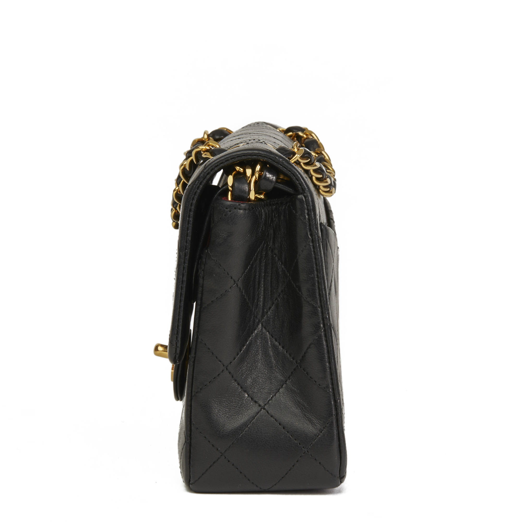 5900db1b473af4 Chanel Black Quilted Lambskin Vintage Small Classic Double Flap Bag Hb2666  2 2 of 11 ...