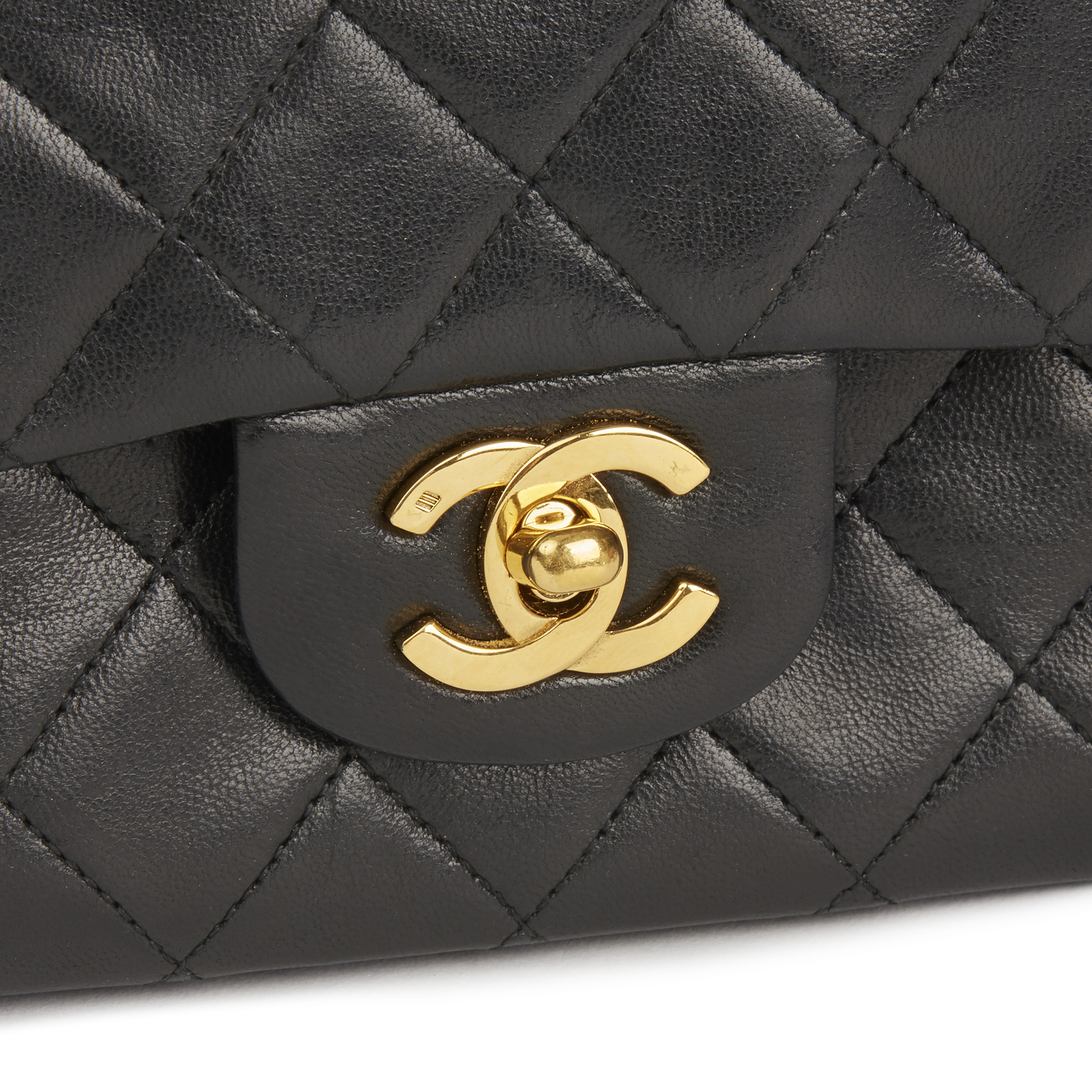 c0dc7b110a43a9 Chanel Black Quilted Lambskin Vintage Small Classic Double Flap Bag Hb2666 6  6 of 11 ...