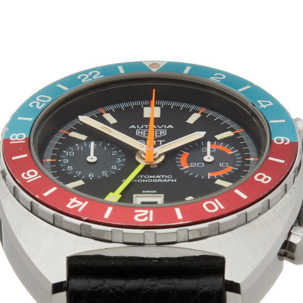 Heuer Autavia GMT Chronograph Stainless Steel 11630