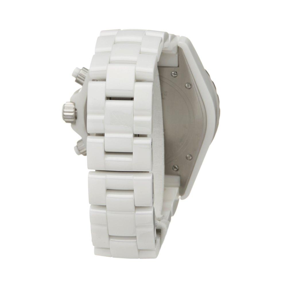 Chanel J12 2 Row Diamond Bezel Ceramic H1008