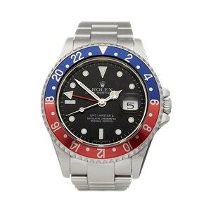 Rolex GMT-Master II Rectangular Dial Pepsi Stainless Steel - 16710
