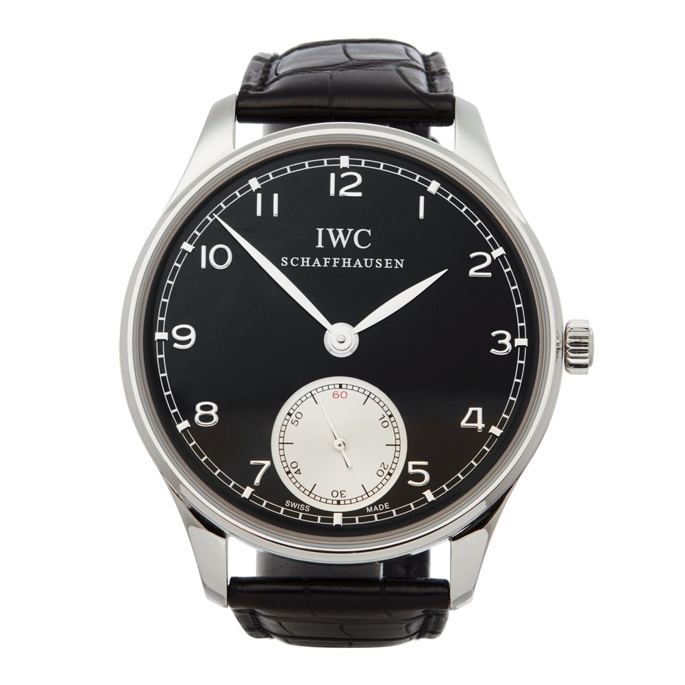 IWC Portuguese Hand-Wound Stainless Steel IW545404