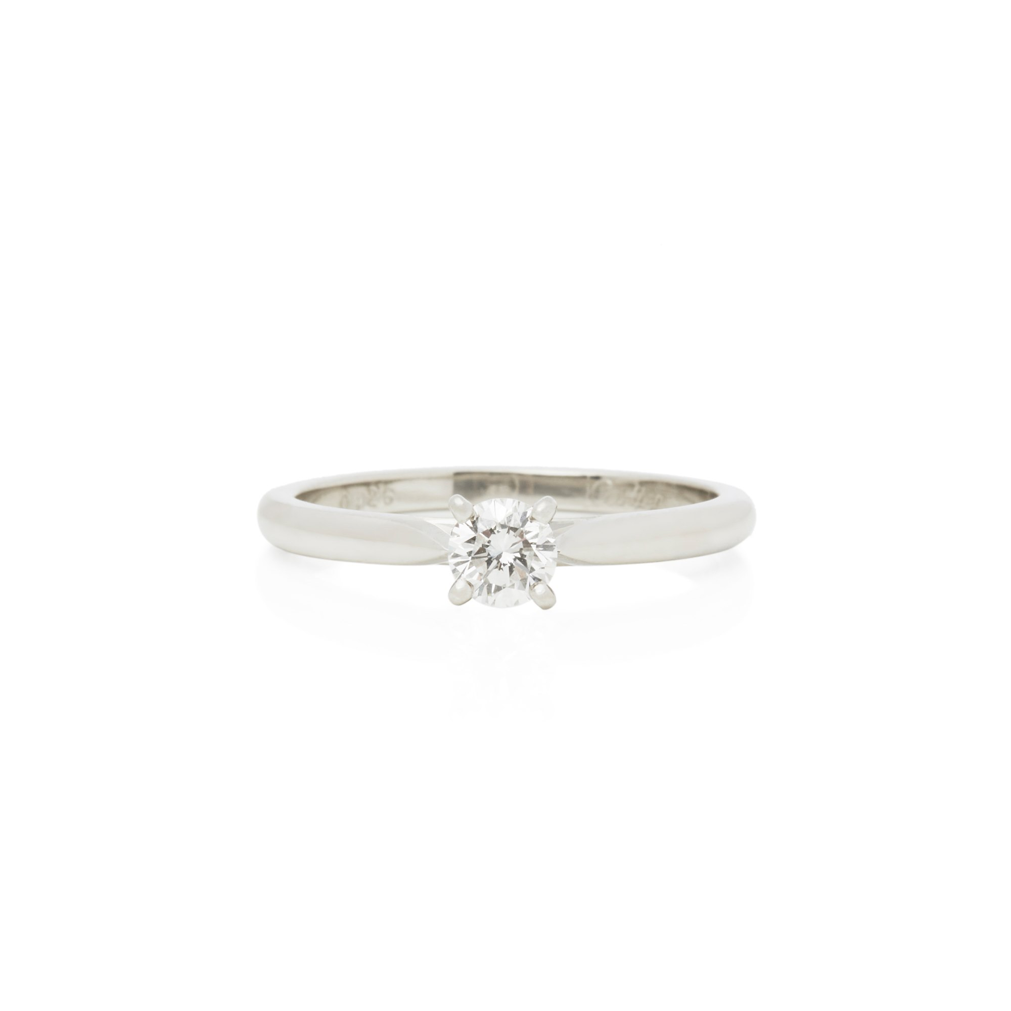 Cartier Platinum 0.26ct Round Brilliant Cut Solitaire Diamond Engagement Ring